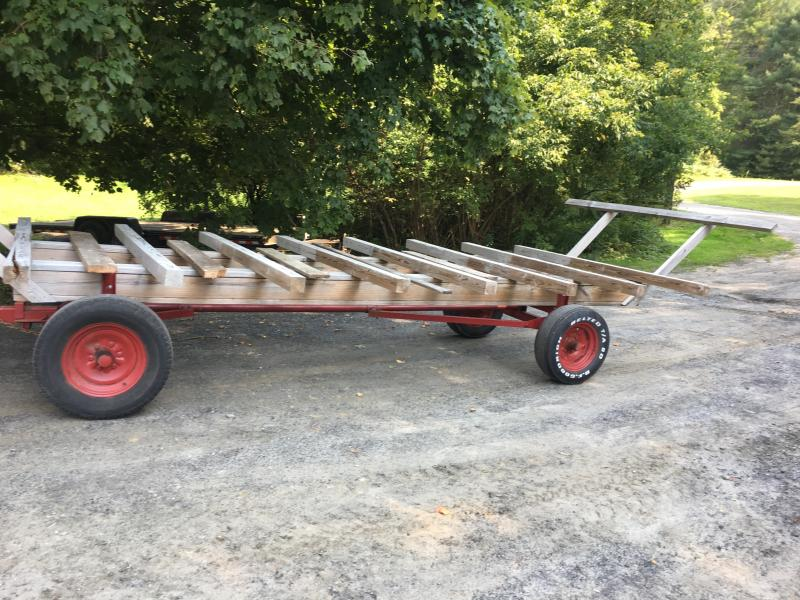 Freshly Restored Hay Wagon Running Gear Which Will Be Used As The